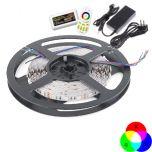 LED Strip - RGB - SMD5050 - 14,4W/m - 5m + DC12V - IP65 | MP210001B QUALEDY®  > 500 Lm
