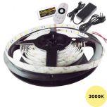 LED Strip - 3000K - 7,2W/m - 5m + DC24V - IP20 - Set | MP210003B QUALEDY®  > 500 Lm