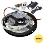 LED Strip 12V - 2400K - 14,4W/m - 300 SMD5050 - 5m - IP65 - Set | MP210004B QUALEDY®  > 500 Lm