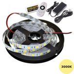 LED Strip 12V - 3000K - 14,4W/m - 300 SMD5050 - 5m - IP65 - Set | MP210101B QUALEDY®  > 500 Lm
