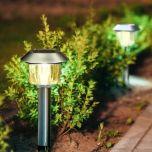 LED Solar Tuinlamp - RVS - Stelo - 3000K