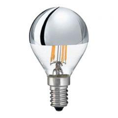 LED E14 lamp - Filament - Kopspiegel - 4 Watt - 2700K - 440Lm - Dimbaar - Vervangt 40W