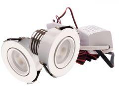 LED Set van 2 Inbouwspots - 4W - Wit - Dimbaar - Gratis Trafo | MP020011W QUALEDY®