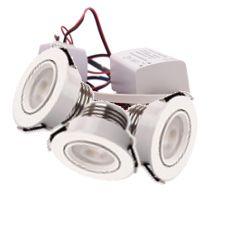 LED Set van 3 Inbouwspot - 4W - Wit - Dimbaar - Gratis Trafo | MP020012W QUALEDY®
