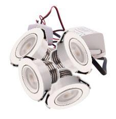 LED Set van 4 Inbouwspot - 4W - Wit - Dimbaar - Gratis Trafo | MP020013W QUALEDY®  201-300 Lm