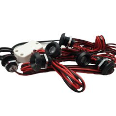 LED Set van 6 Inbouwspots - 2W - Zwart - 3000K - Dimbaar - Gratis Trafo | MP020028Z QUALEDY®  101-200 Lm
