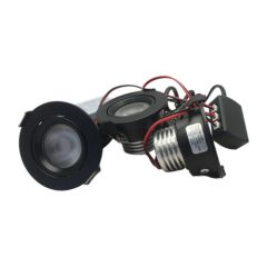 LED Set van 3 Inbouwspots - 4,5W - Zwart - Dim - Ø62mm - Gratis Trafo | MP020052Z QUALEDY®  201-300 Lm