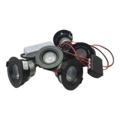 LED Set van 5 Inbouwspots - 4,5W - Zwart - Dim - Ø62mm - Gratis Trafo | MP020054Z QUALEDY®  201-300 Lm