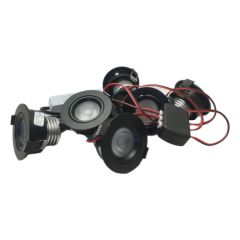 LED Set van 6 Inbouwspots - 4,5W - Zwart - Dim - Ø62mm - Gratis Trafo | MP020055Z QUALEDY®  201-300 Lm