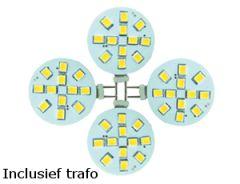 LED Set van 4 G4 2,0W (20W halogeen-vervanger) incl. trafo