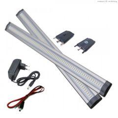 LED Bar - 3W - 24V - 300mm - 3000K - 300Lm - Dimbaar - Set | MP130018B QUALEDY®