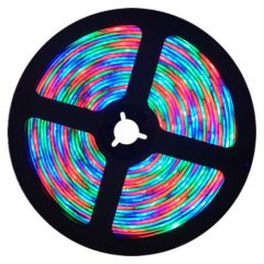 Digitale LED RGB Strip - 7,2W/m - SMD5050-WS2811 - DC12V - 5m - IP65 | MP210005 QUALEDY®  401-500 Lm