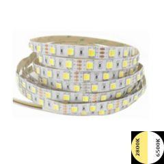 LED Strip - WW+CW - CCT - 14,4W/m - SMD5050 - DC24V - 5m - IP20 | MP210007 QUALEDY® G53