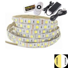LED Strip 24V - Tint wit - 14,4W/m - 300 SMD5050 - 5 meter - IP20 - Set | MP210007B QUALEDY®