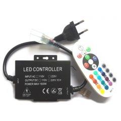LED Strip 230V RGB Controller - 1500W - met RF afstandsbediening | MP210055 QUALEDY®