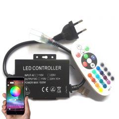 LED Controller - Strip 230V - RGB - IR+App-Bluetooth - 6A - 720W | MP210056 QUALEDY®