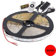 LED Strip - Rood - 14,4W/m - SMD5050 - DC24V - 5m - IP20 - open wire