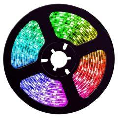 LED Strip - RGB - SMD5050 - 14,4W/m - 5m + DC24V - IP20 | MP210064 QUALEDY®  > 500 Lm