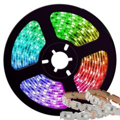 LED Strip - RGB - 42xSMD5050 - 10W/m - DC12V - 5m - IP20 - Buigbaar | MP210092 QUALEDY® G53