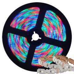 LED Strip - Digitaal RGB - 60xSMD5050 - 14,4W/m - DC5V - 5m - IP20 - Buigbaar | MP210093 QUALEDY®