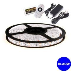 LED Strip 12V - Blauw - 9,6W/m - 600 SMD3528 - 5 meter - IP65 - Set