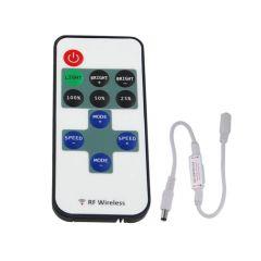 LED Strip Dimmer - Single Color - 12-24V - 6A - met 10 knops RF afstandsbediening | MP210140 QUALEDY®