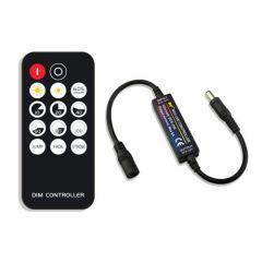 LED Strip Dimmer - Single Color - 12-24V - 6A - met 14 knops RF afstandsbediening | MP210141 QUALEDY®