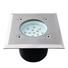 LED Grondspot - 0,7W - 35Lm - 14SMD - 6200-6000K - IP66 - Vierkant