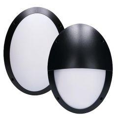LED Buitenlamp - Muur of plafond - Ovaal - Zwart - E27 - IP66 - Met 2 afdekkingen | MP230016Z EGB E27 Niet van toepassing