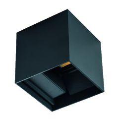 LED Buitenlamp Reka - Muurlamp - 7 Watt - 4000K - Tweezijdig - IP54 - Grafietzwart