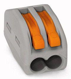 WAGO Lasklem 2x0,08-2,5/4mm² Cu - Flexibele en massieve draden