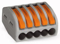 WAGO Lasklem 5x0,08-2,5/4mm² Cu - Flexibele en massieve draden