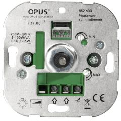 LED Inbouwdimmer (faseaansnijding - 5-100W/VA) | MP990076 OPUS