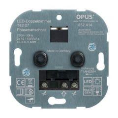 Duo dimmer (voor LED, gloei- en HV- halogeenlampen) | MP990097 OPUS
